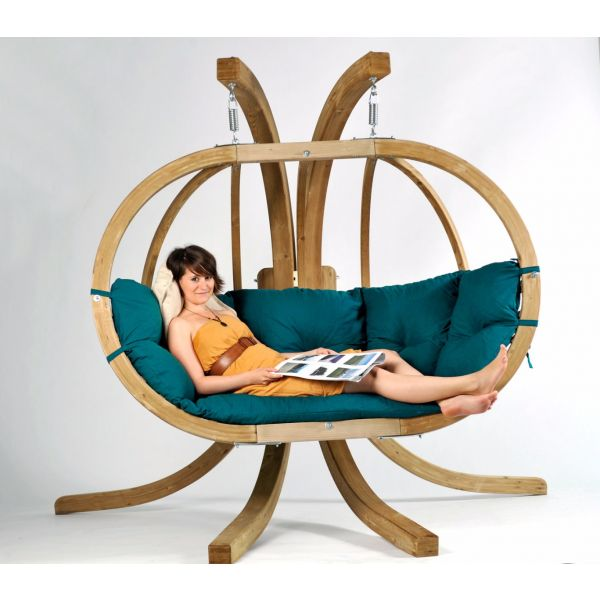 'Globo Royal' Green Hamac Chaise avec Support