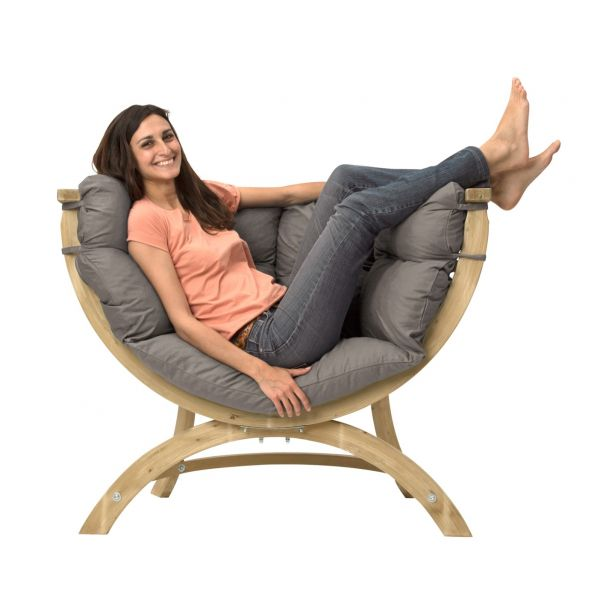 'Siena' Taupe Chaise lounge