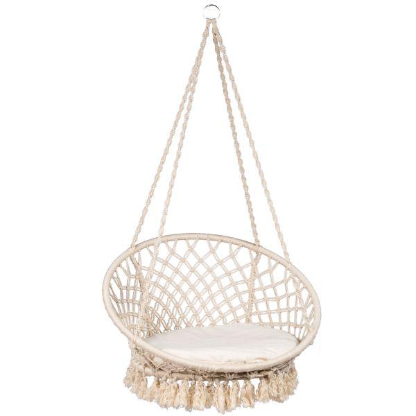Macramé White Hamac Chaise
