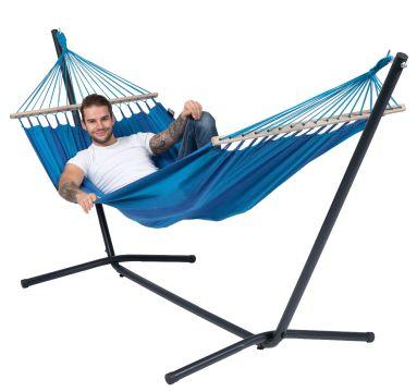 Easy & Relax Blue Hamac Sur Pied Une Place