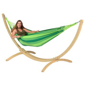 Wood & Dream Green Hamac Sur Pied Une Place