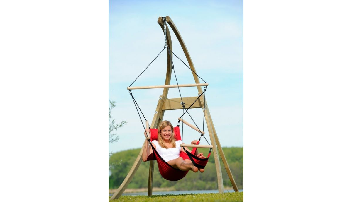 'Atlas' Red Hamac Chaise avec Support