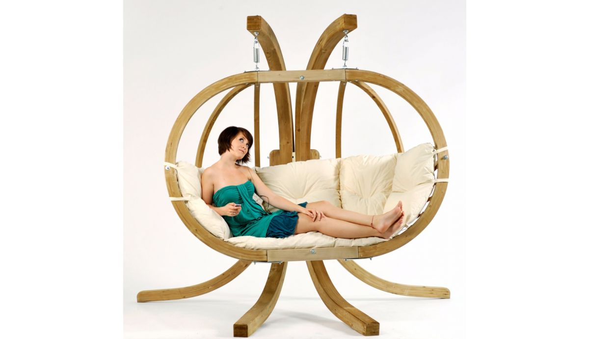 'Globo Royal' Natura Hamac Chaise avec Support