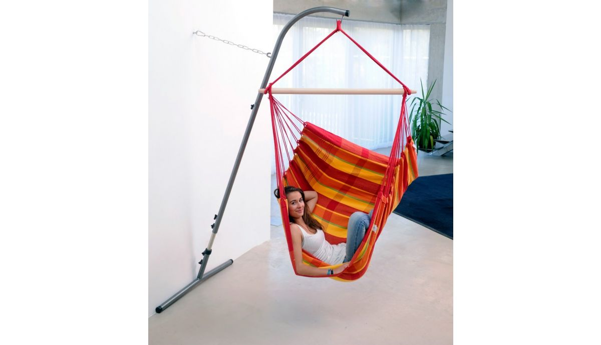 'Palmera' Papaya Hamac Chaise avec Support