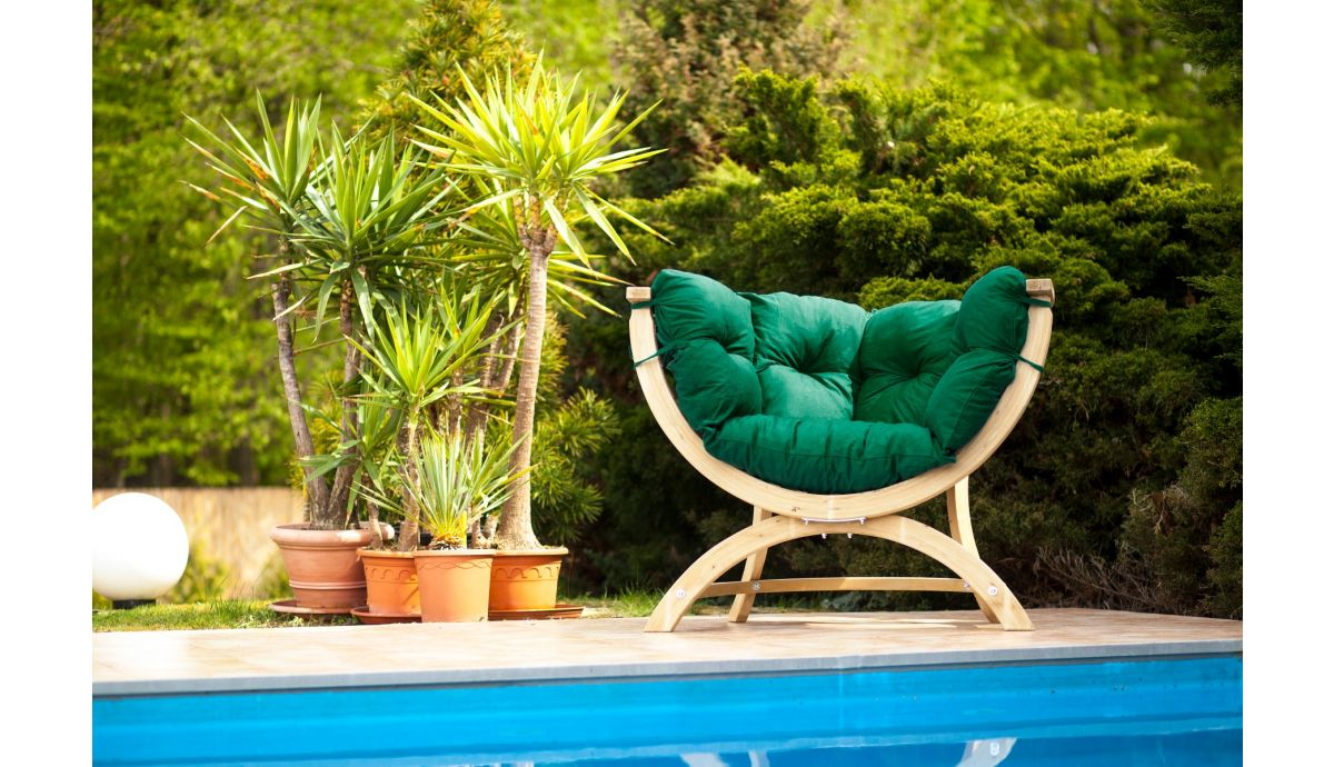 'Siena' Green Chaise lounge