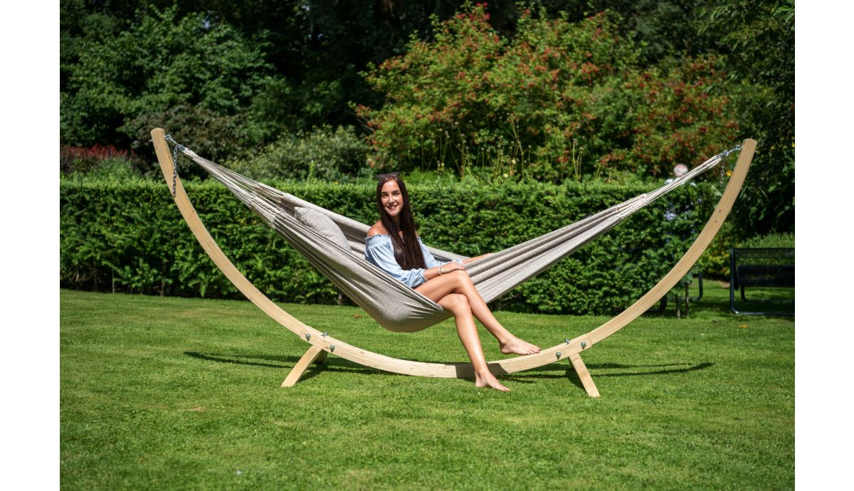 'Wood'  Support Hamac Une Place