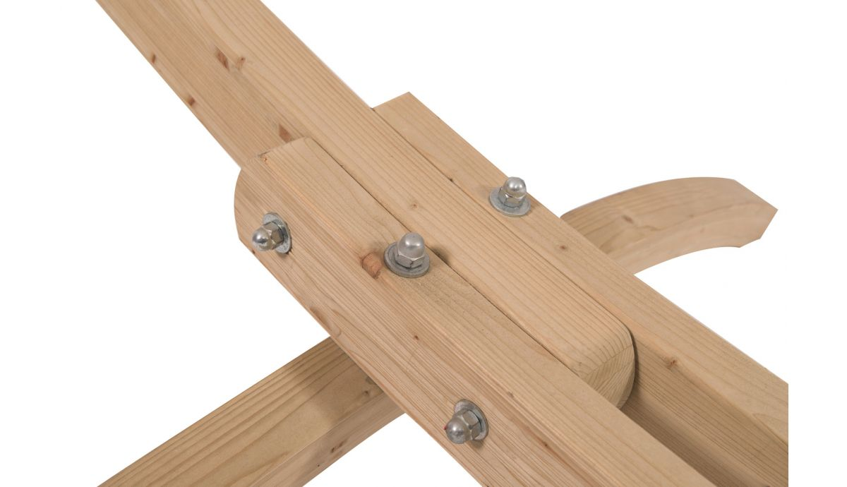 'Wood & Relax' Green Hamac Sur Pied Une Place