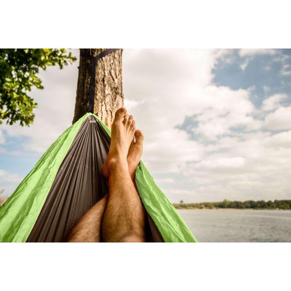 'Outdoor' Lime Hamac de Voyage Une Place