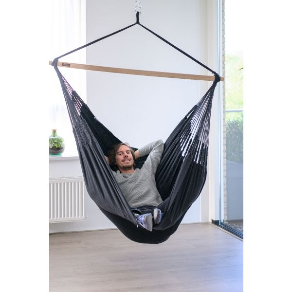 'Luxe' Black Hamac Chaise